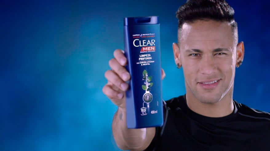 Shooting in spain with Neymar for Clear Men